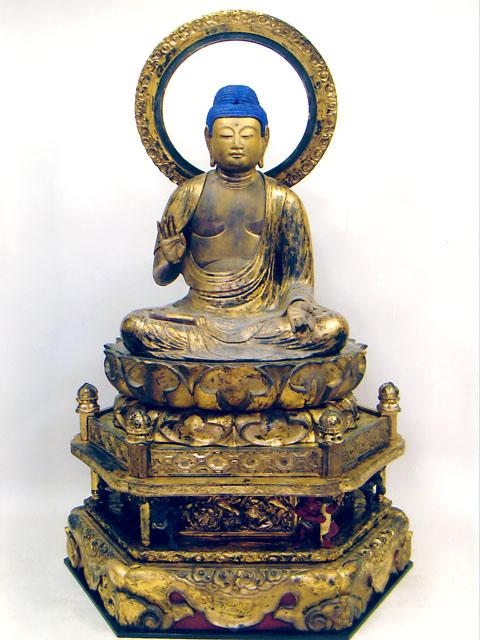 川口の文化財 - 木造釈迦如来坐像